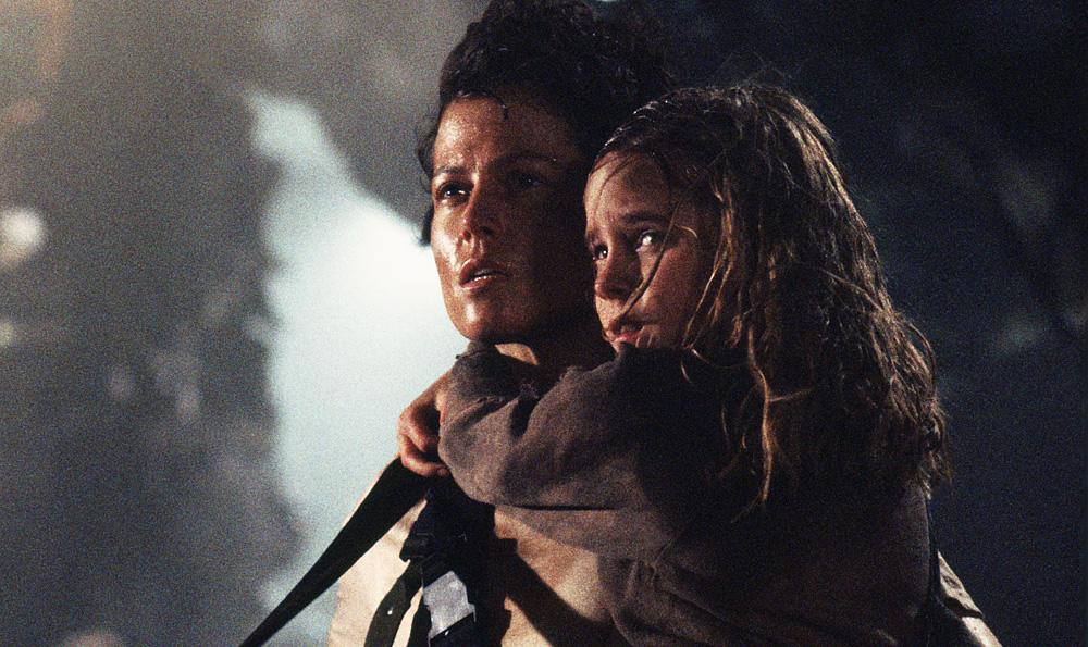Sigourney Weaver and Carrie Henn