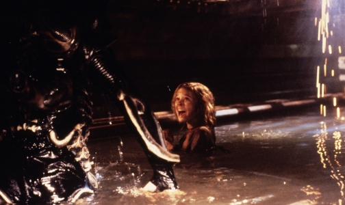 Carrie Henn with the Alien
