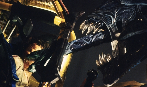 Sigourney Weaver and the Alien